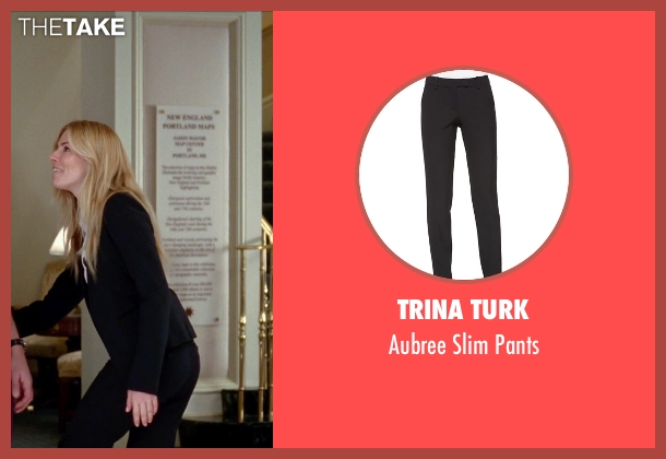 Trina Turk	 black pants from Unfinished Business seen with Sienna Miller (Chuck Portnoy)