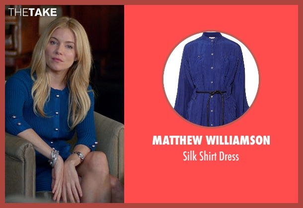 Matthew Williamson blue dress from Unfinished Business seen with Sienna Miller (Chuck Portnoy)