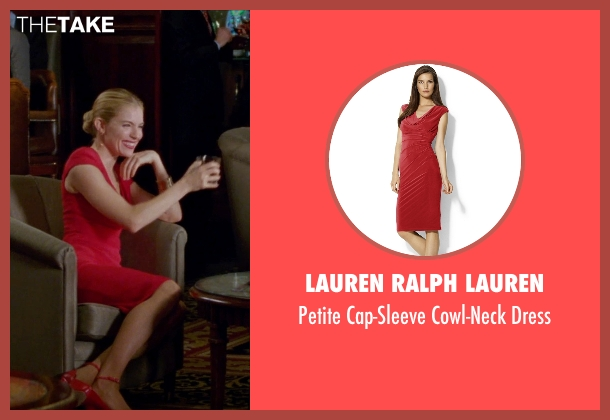 Lauren Ralph Lauren red dress from Unfinished Business seen with Sienna Miller (Chuck Portnoy)