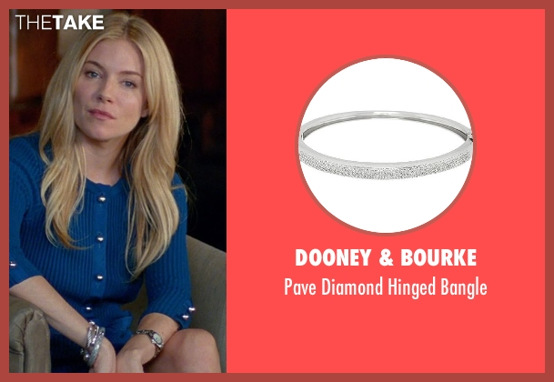 Dooney & Bourke silver bangle from Unfinished Business seen with Sienna Miller (Unknown Character)