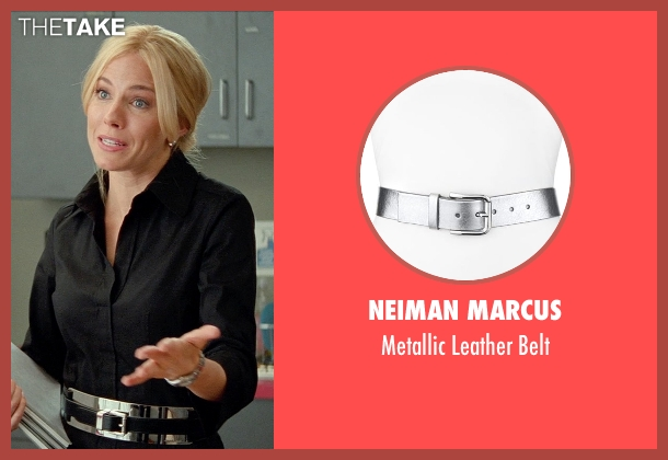 Neiman Marcus silver belt from Unfinished Business seen with Sienna Miller (Chuck Portnoy)