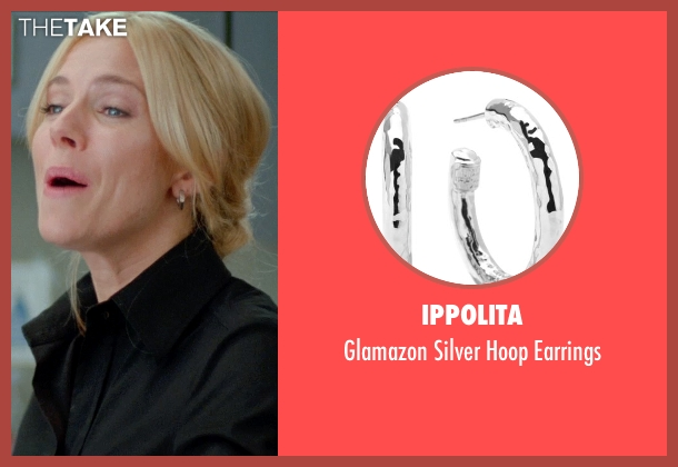 Ippolita silver earrings from Unfinished Business seen with Sienna Miller (Chuck Portnoy)