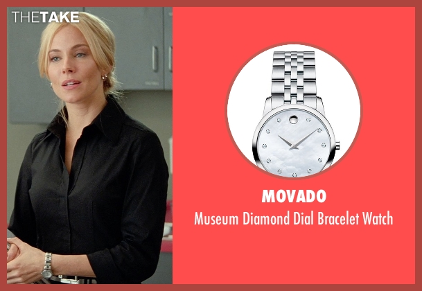 Movado silver watch from Unfinished Business seen with Sienna Miller (Chuck Portnoy)