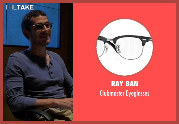Ray Ban black eyeglasses from Quantico seen with Simon Asher (Tate Ellington)