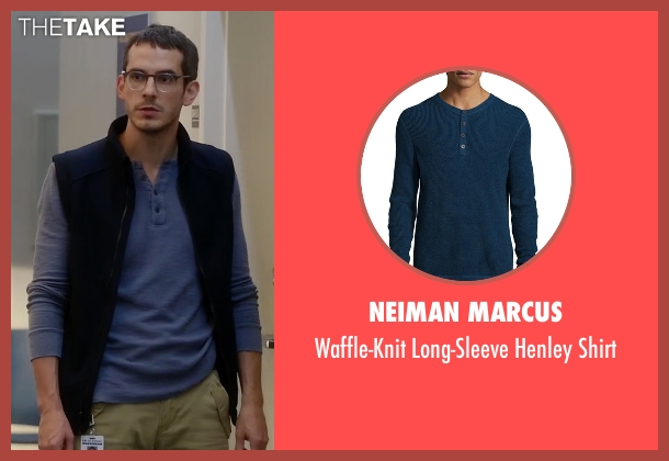 Neiman Marcus	 blue shirt from Quantico seen with Simon Asher (Tate Ellington)