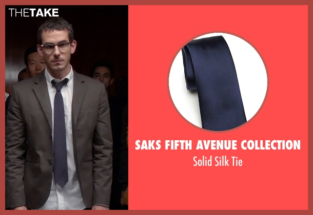 Saks Fifth Avenue Collection blue tie from Quantico seen with Simon Asher (Tate Ellington)