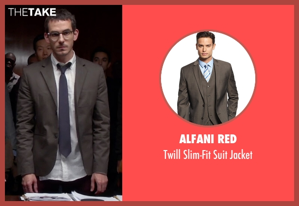 Alfani RED brown jacket from Quantico seen with Simon Asher (Tate Ellington)