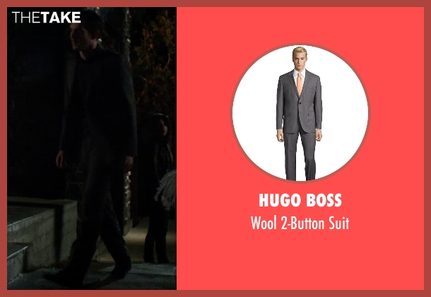 Hugo Boss gray suit from Quantico seen with Simon Asher (Tate Ellington)