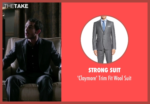 Strong Suit gray suit from Quantico seen with Simon Asher (Tate Ellington)
