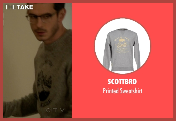 Scottbrd gray sweatshirt from Quantico seen with Simon Asher (Tate Ellington)