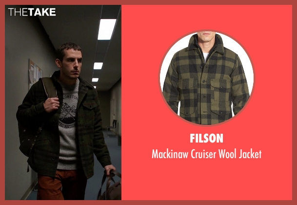 Filson green jacket from Quantico seen with Simon Asher (Tate Ellington)