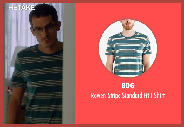 BDG green t-shirt from Quantico seen with Simon Asher (Tate Ellington)