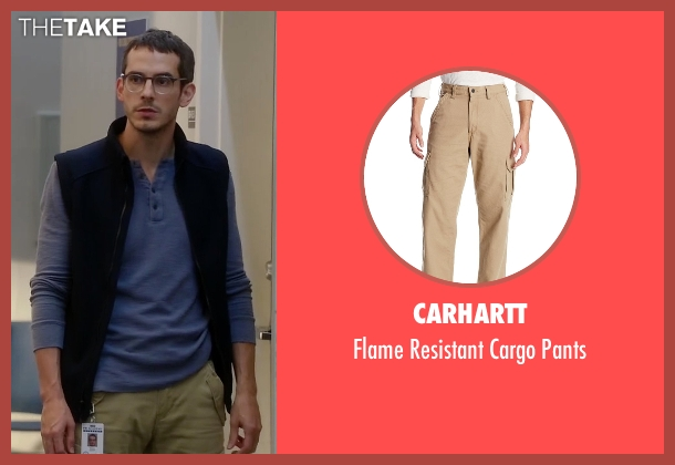 Carhartt pants from Quantico seen with Simon Asher (Tate Ellington)