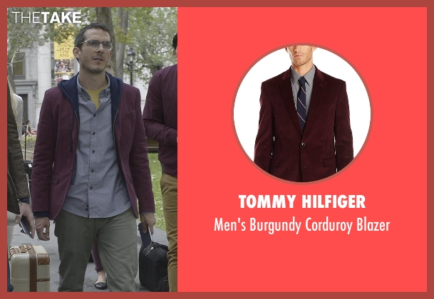 Tommy Hilfiger red blazer from Quantico seen with Simon Asher (Tate Ellington)