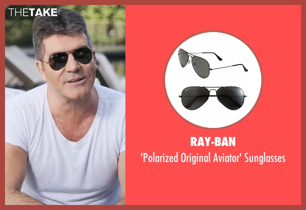 Ray-Ban black sunglasses from Popstar: Never Stop Never Stopping seen with Simon Cowell