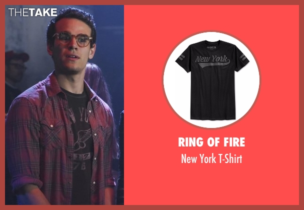 Ring Of Fire black t-shirt from Shadowhunters seen with Simon Lewis (Alberto Rosende)