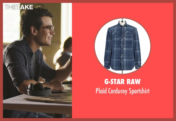 G-Star Raw blue sportshirt from Shadowhunters seen with Simon Lewis (Alberto Rosende)