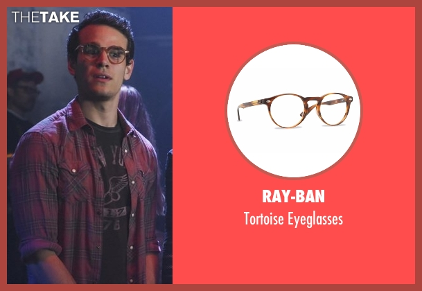 Ray-Ban brown eyeglasses from Shadowhunters seen with Simon Lewis (Alberto Rosende)