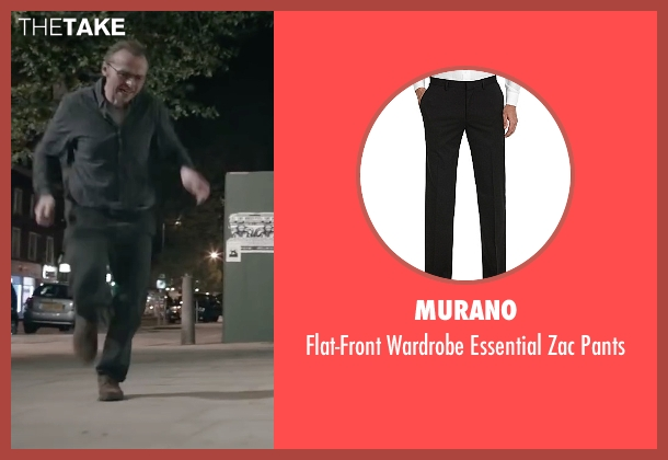 Murano black pants from Absolutely Anything seen with Simon Pegg (Neil Clarke)