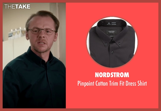 Nordstrom black shirt from Absolutely Anything seen with Simon Pegg (Neil Clarke)