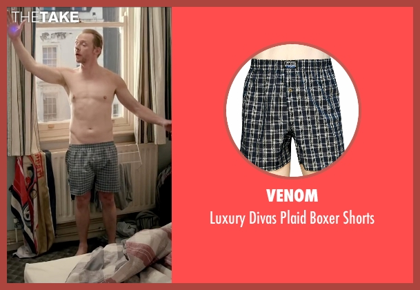 Venom black shorts from Absolutely Anything seen with Simon Pegg (Neil Clarke)