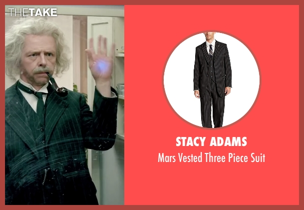 Stacy Adams black suit from Absolutely Anything seen with Simon Pegg (Neil Clarke)