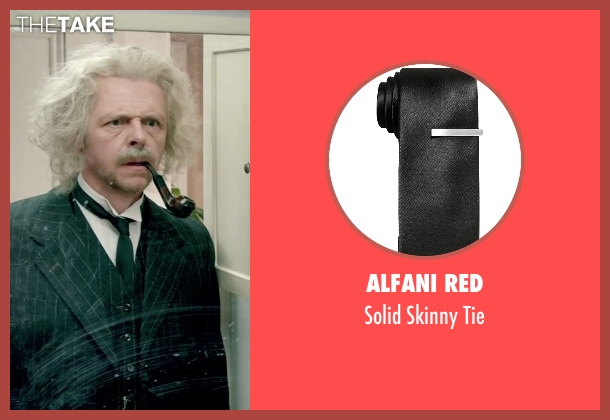 Alfani Red black tie from Absolutely Anything seen with Simon Pegg (Neil Clarke)