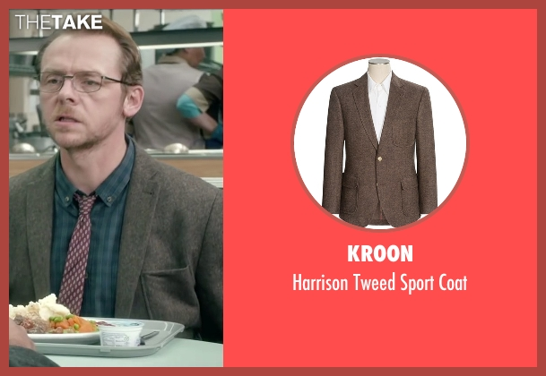 Kroon brown coat from Absolutely Anything seen with Simon Pegg (Neil Clarke)