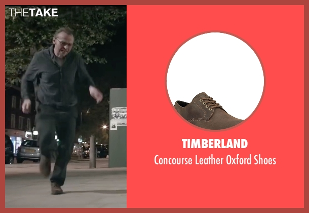 Timberland brown shoes from Absolutely Anything seen with Simon Pegg (Neil Clarke)
