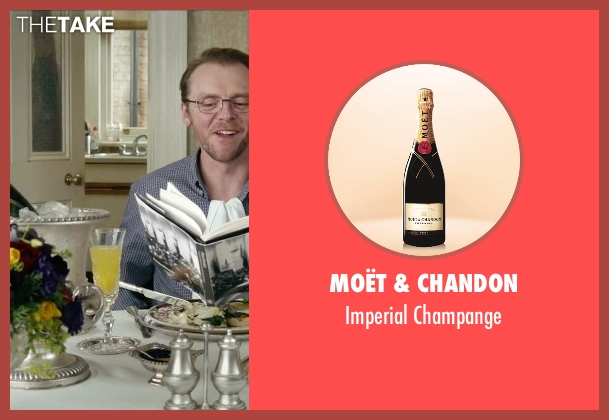Moët & Chandon champange from Absolutely Anything seen with Simon Pegg (Neil Clarke)