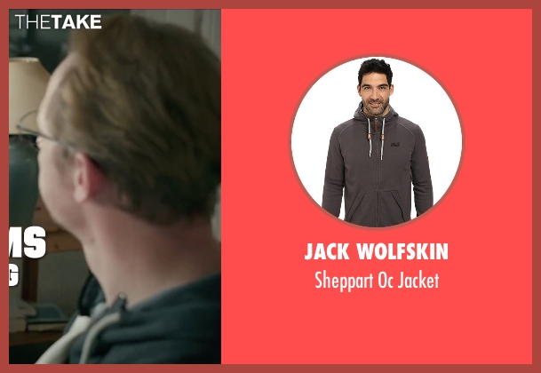 Jack Wolfskin gray jacket from Absolutely Anything seen with Simon Pegg (Neil Clarke)