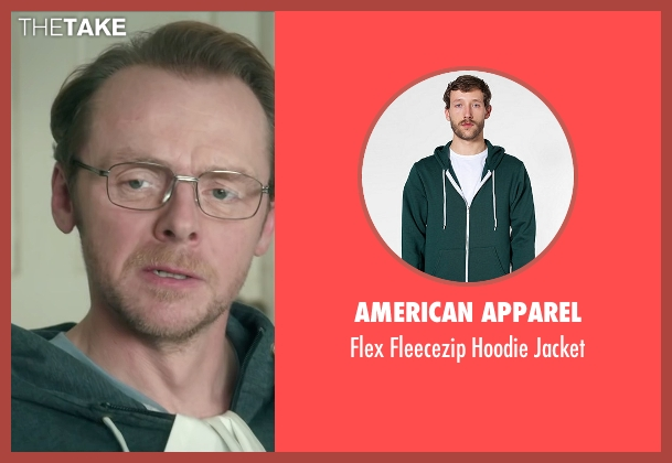 American Apparel green jacket from Absolutely Anything seen with Simon Pegg (Neil Clarke)