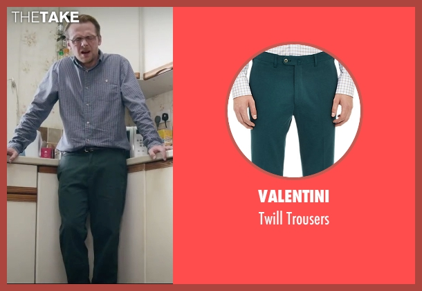 Valentini green trousers from Absolutely Anything seen with Simon Pegg (Neil Clarke)