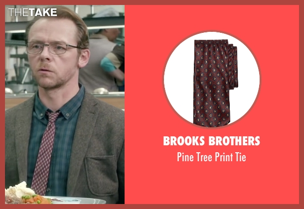 Brooks Brothers red tie from Absolutely Anything seen with Simon Pegg (Neil Clarke)