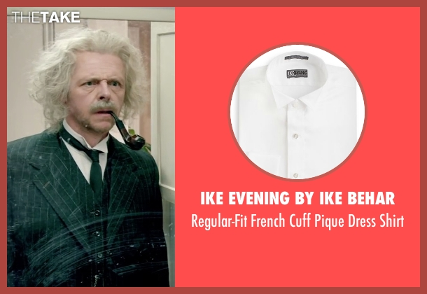 Ike Evening By Ike Behar white shirt from Absolutely Anything seen with Simon Pegg (Neil Clarke)