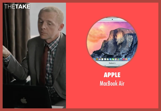 Apple air from Mission: Impossible - Ghost Protocol seen with Simon Pegg (Benji Dunn)