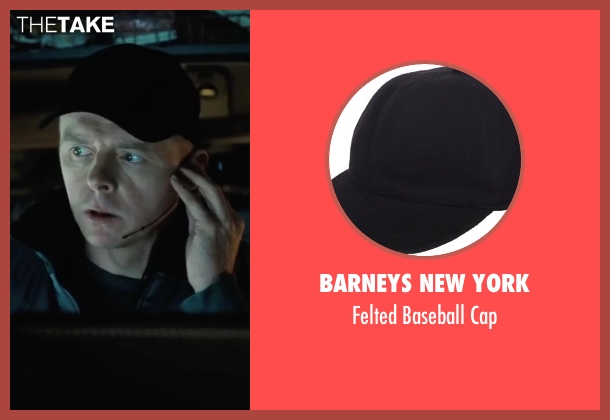 Barneys New York black cap from Mission: Impossible - Ghost Protocol seen with Simon Pegg (Benji Dunn)