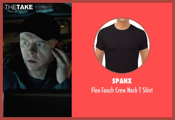 Spanx black shirt from Mission: Impossible - Ghost Protocol seen with Simon Pegg (Benji Dunn)