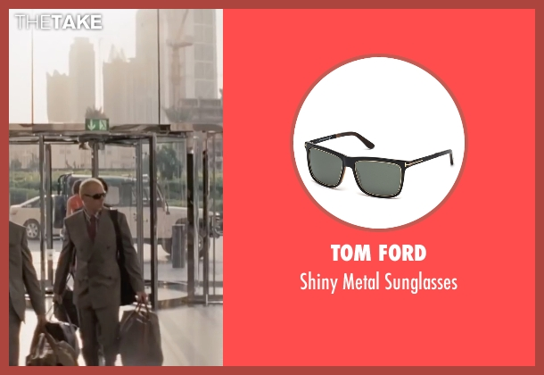 Tom Ford black sunglasses from Mission: Impossible - Ghost Protocol seen with Simon Pegg (Benji Dunn)