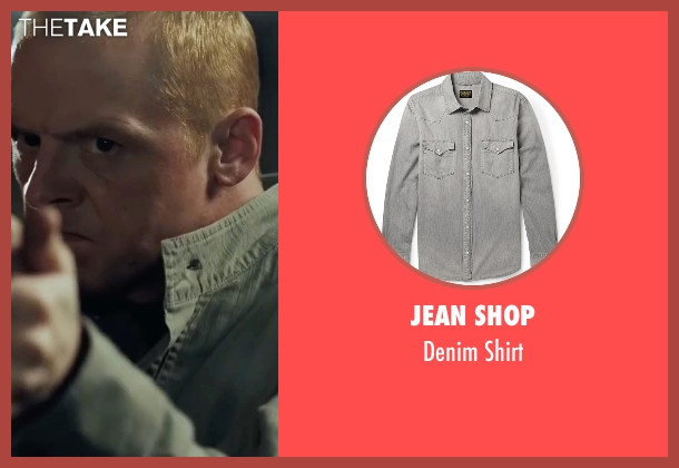 Jean Shop gray shirt from Mission: Impossible - Ghost Protocol seen with Simon Pegg (Benji Dunn)