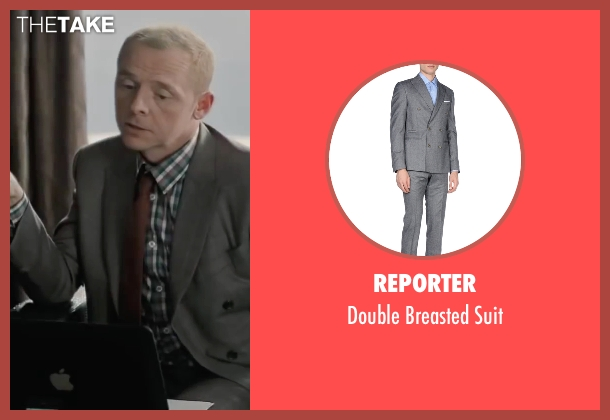 Reporter gray suit from Mission: Impossible - Ghost Protocol seen with Simon Pegg (Benji Dunn)
