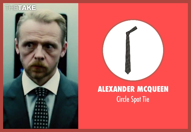 Alexander Mcqueen black tie from Mission: Impossible - Rogue Nation seen with Simon Pegg (Benji Dunn)