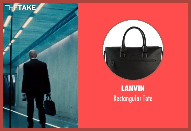 Lanvin black tote from Mission: Impossible - Rogue Nation seen with Simon Pegg (Benji Dunn)
