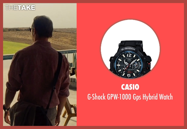 Casio black watch from Mission: Impossible - Rogue Nation seen with Simon Pegg (Benji Dunn)