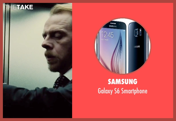 Samsung smartphone from Mission: Impossible - Rogue Nation seen with Simon Pegg (Benji Dunn)