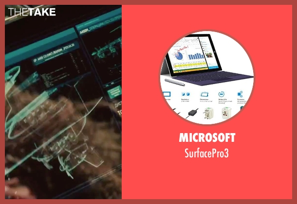 Microsoft surfacepro3 from Mission: Impossible - Rogue Nation seen with Simon Pegg (Benji Dunn)
