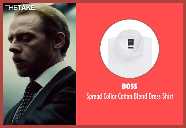 Boss white shirt from Mission: Impossible - Rogue Nation seen with Simon Pegg (Benji Dunn)