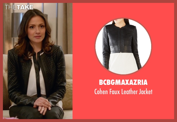 BCBGMAXAZRIA  black jacket from Supergirl seen with Siobhan Smythe (Italia Ricci)