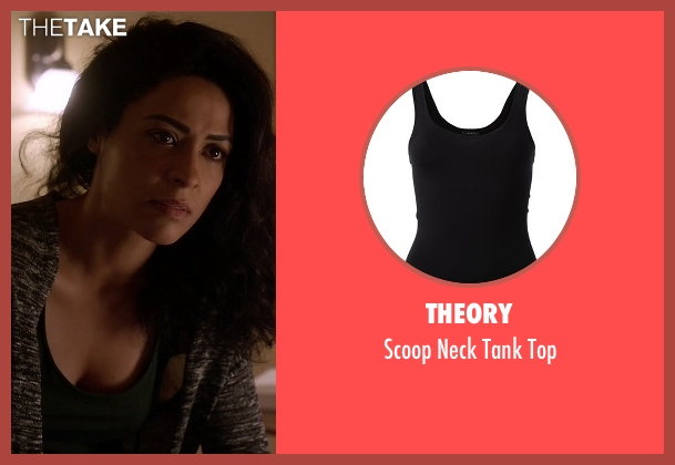 Theory black top from Quantico seen with Sita Parrish  (Anna Khaja)