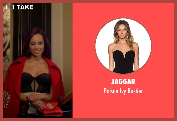 Jaggar black bustier from Empire seen with Skye Summers (Alicia Keys)